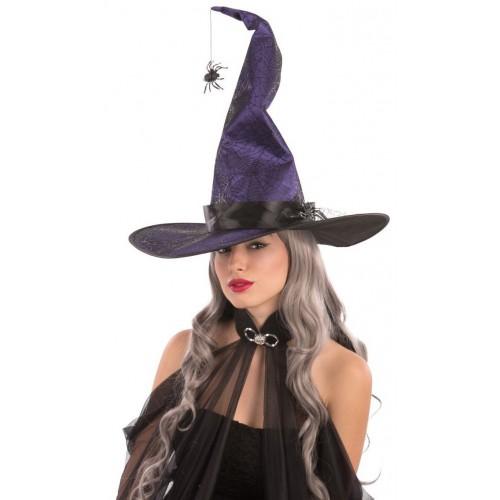 Chapeau de sorcière araignée suspendue