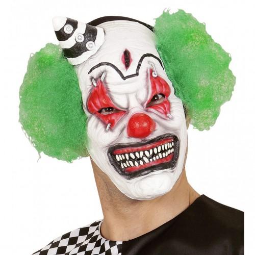 Masque de clown tueur avec mini chapeau