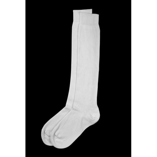 Chaussettes blanches hautes en coton