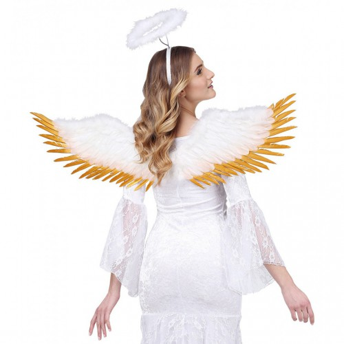 Ailes d'ange blanches et dorées