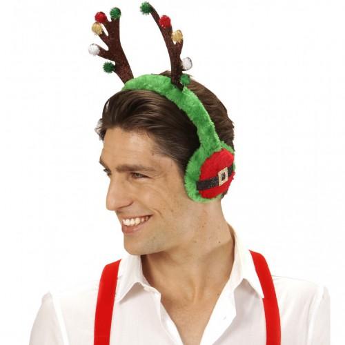 Protège-oreilles renne de Noël