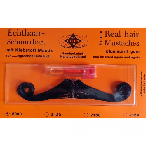 Moustache gay 90's noire luxe