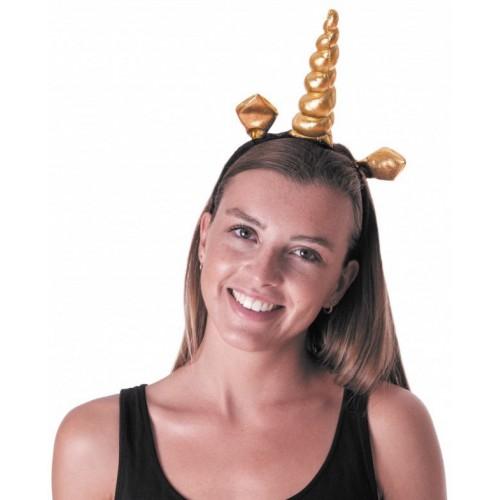 Serre-tête licorne or