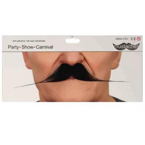 Longue moustache noire