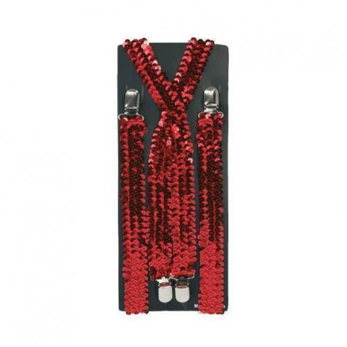 Bretelles pailletées rouges