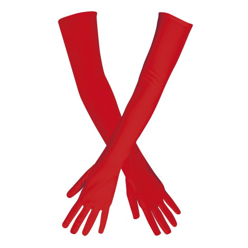 Longs gants rouges