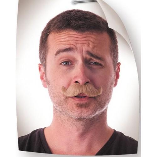 Moustache classy blond foncé