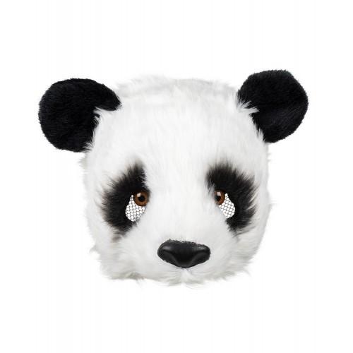Demi masque peluche panda