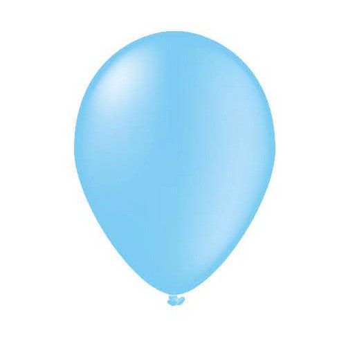 100 ballons bleu ciel