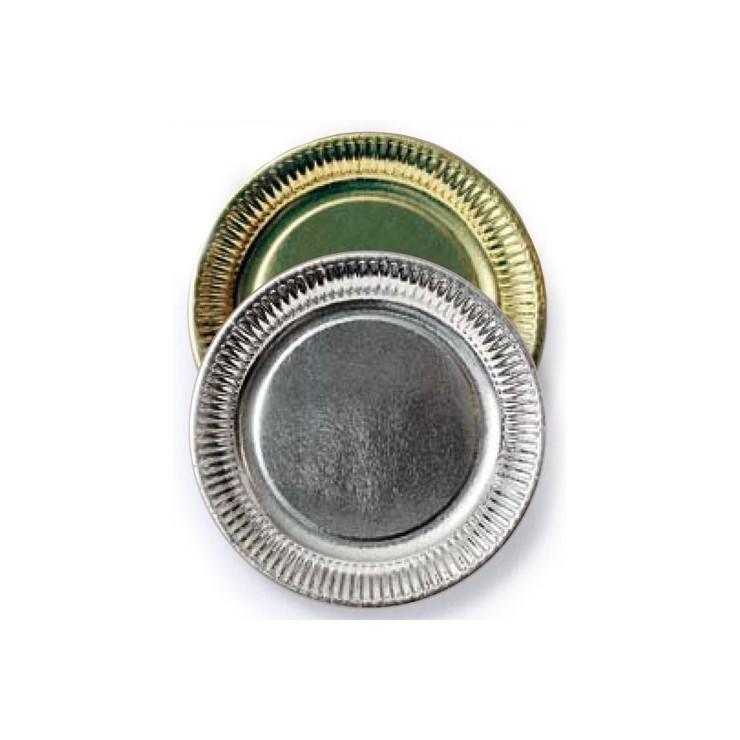 Assiettes carton metallisées x10
