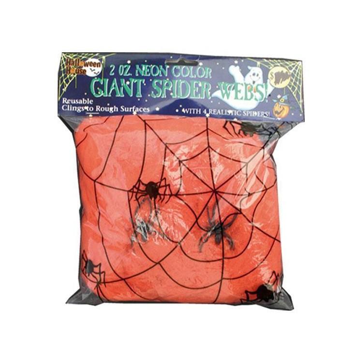 Toile d'araignée orange 50g