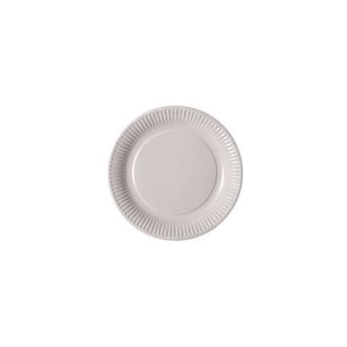 Assiettes blanches en carton x50