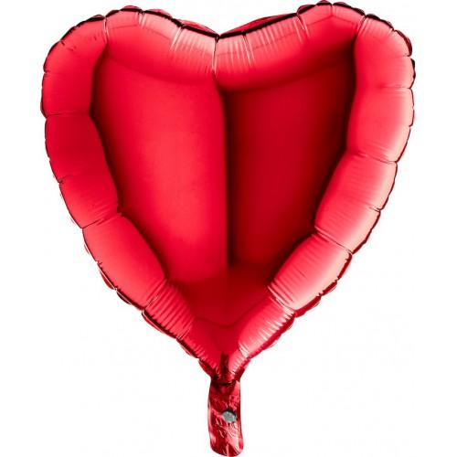 "Ballon coeur rouge 18"" mylar"