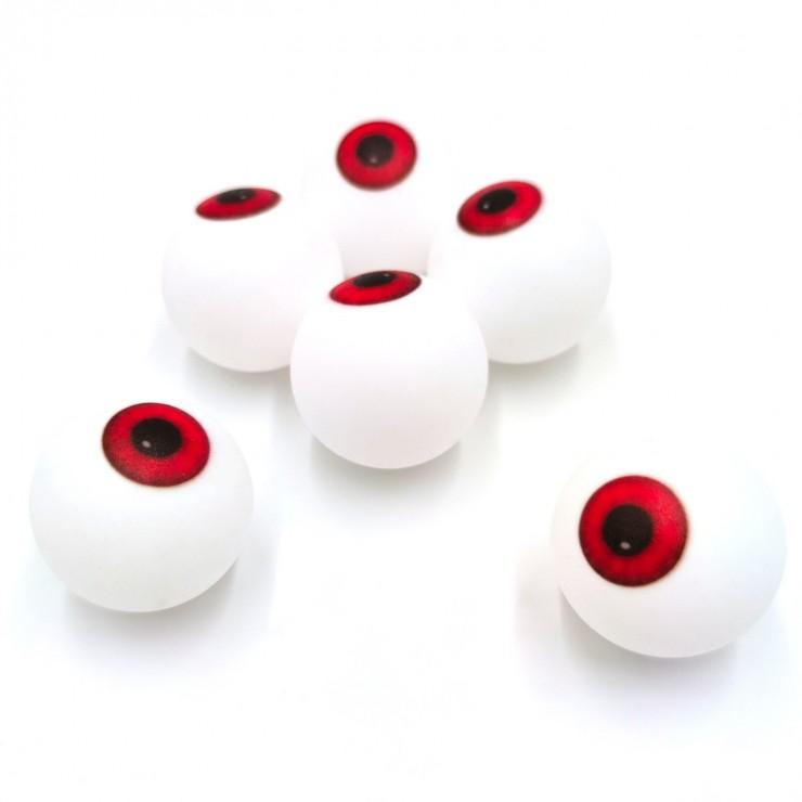 Oeil balle de ping pong x6