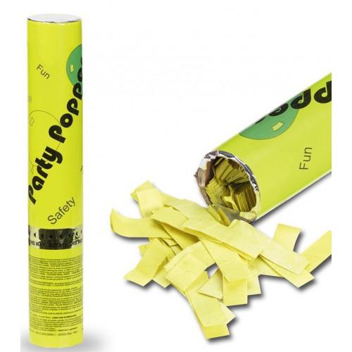 Canon à confettis jaunes