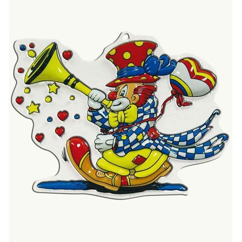 Clown à trompette