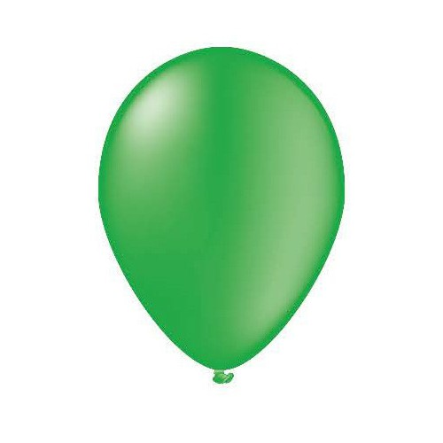 100 ballons vert lime