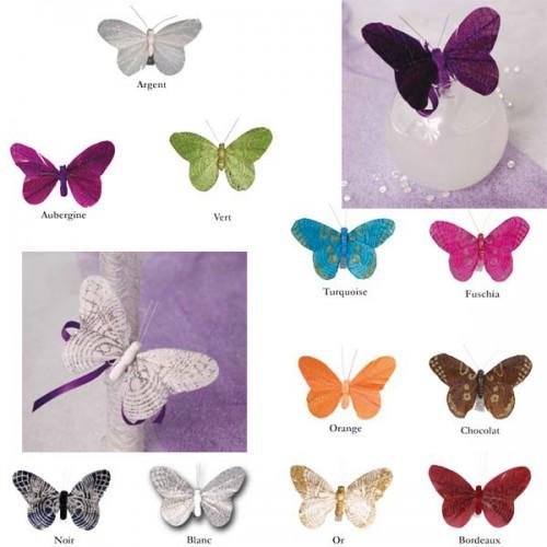 Papillons scintillants (x6)