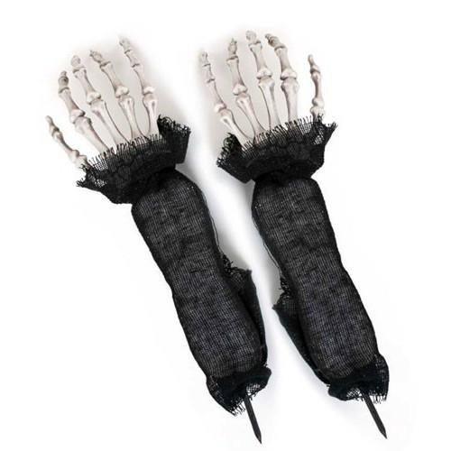 Mains de squelettes déco