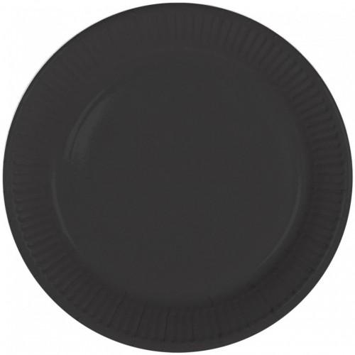 Assiettes noires x8