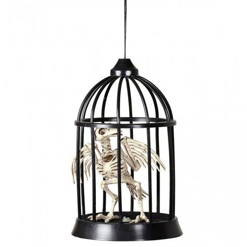 Corbeau squelette en cage