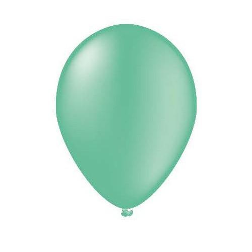 100 ballons vert sarcelle