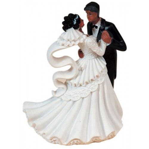 Mariés valsant noir