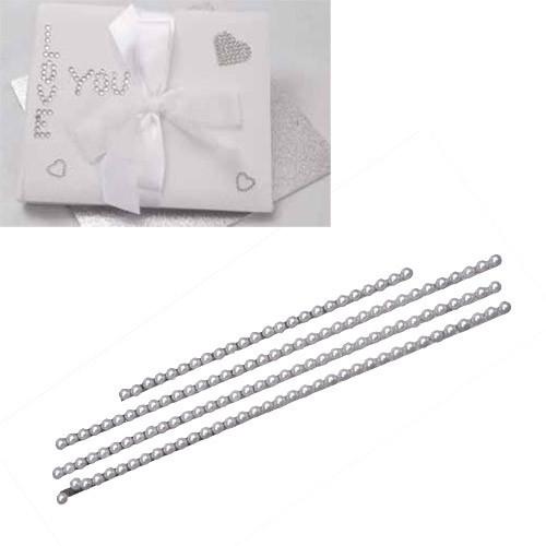 Fils perles adhesives