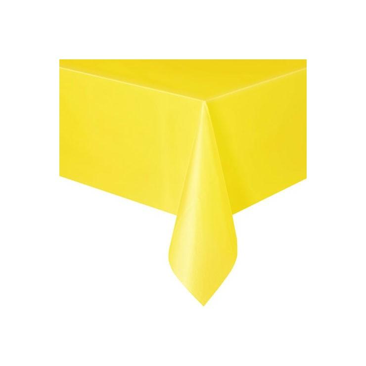 Nappe jaune en plastique