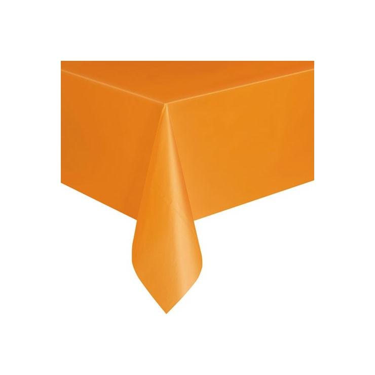 Nappe orange en plastique