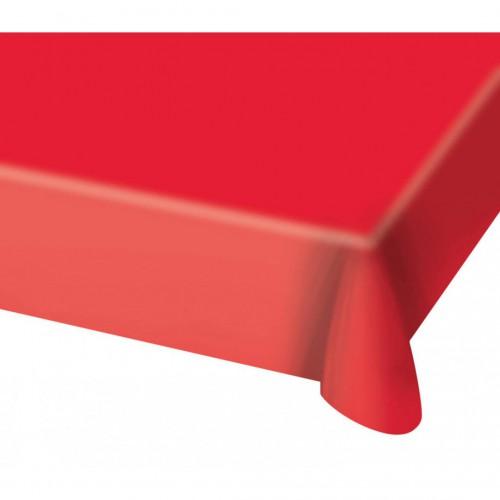 Nappe rouge en plastique