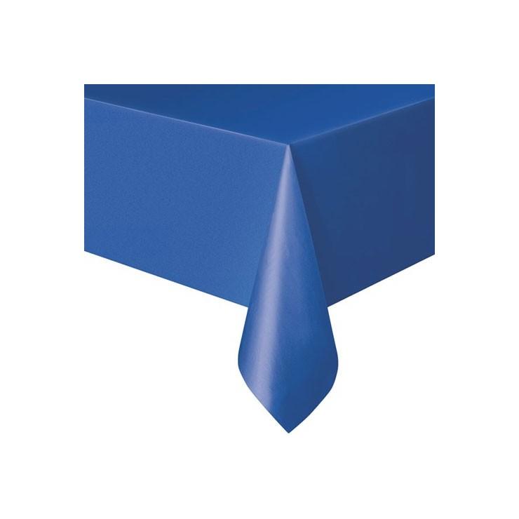 Nappe bleue en plastique
