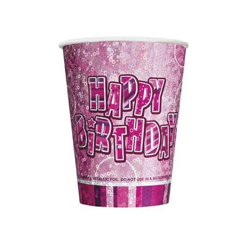 Gobelets Happy Birthday Roses