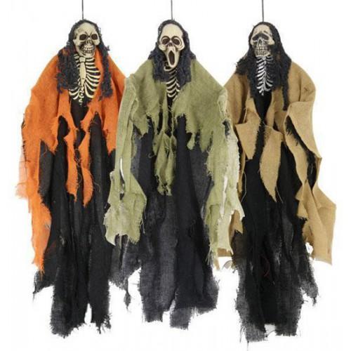 Squelette avec robe jute 60 cm