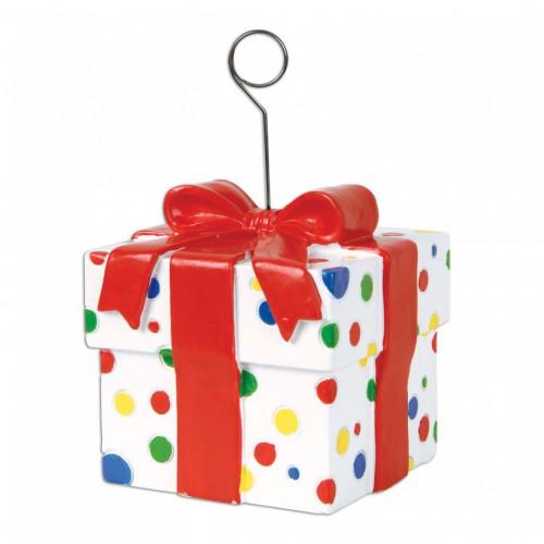Marque-place / leste à ballon paquet cadeau