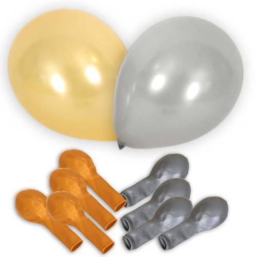 Ballons métallisés x10