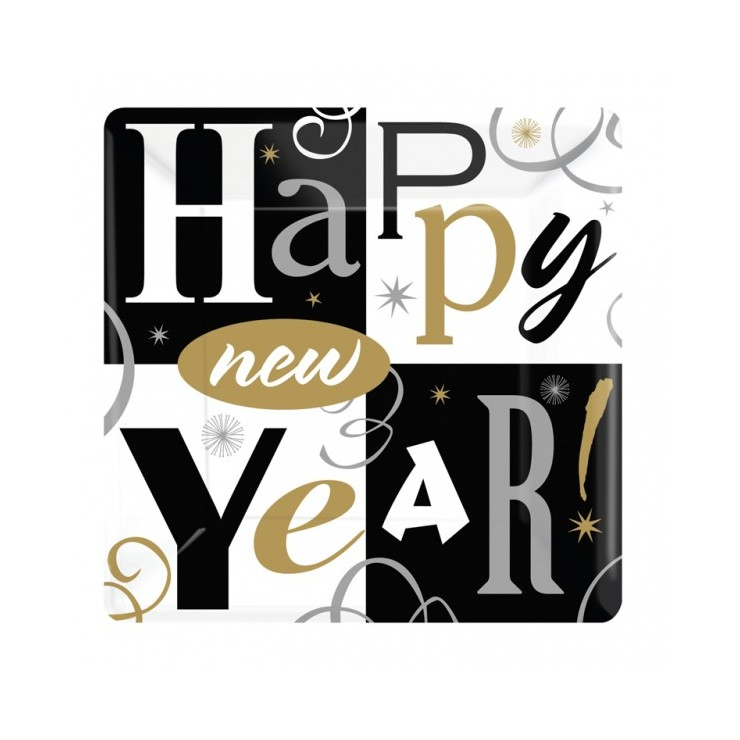 Assiettes Happy New Year 26 cm