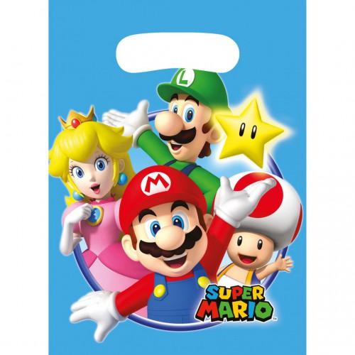 Sacs à cadeaux super Mario x8