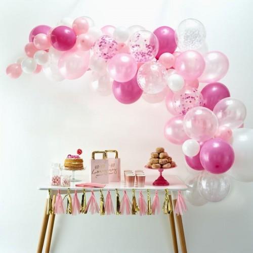 Kit arche de ballons rose