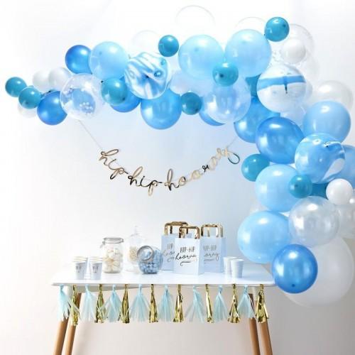Kit arche de ballons bleue