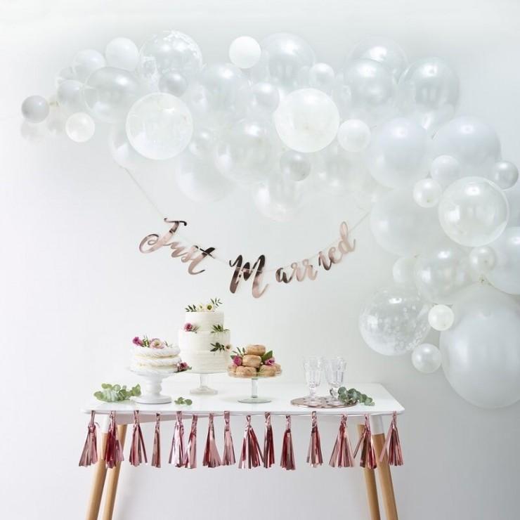 Kit arche de ballons blanche