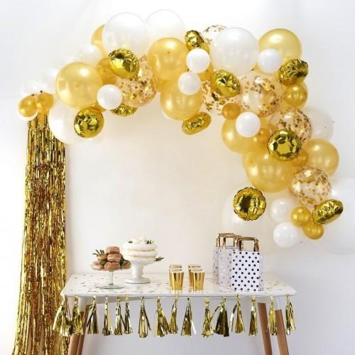 Kit arche de ballons dorée
