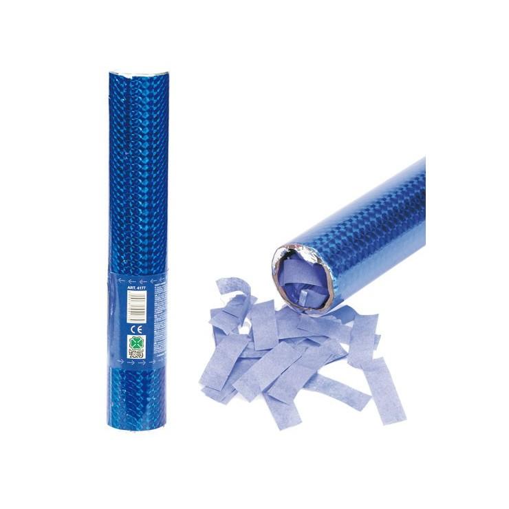 Canon confetti bleus 30 cm