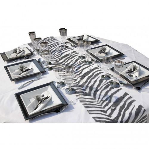 Chemin de table Zebra