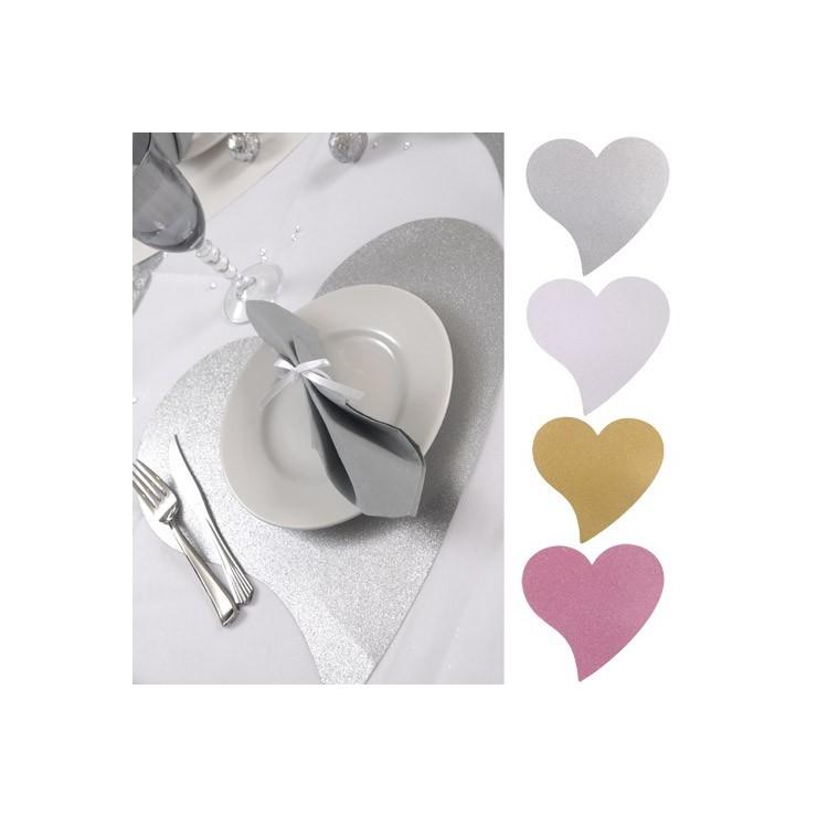 Set de table coeur x2