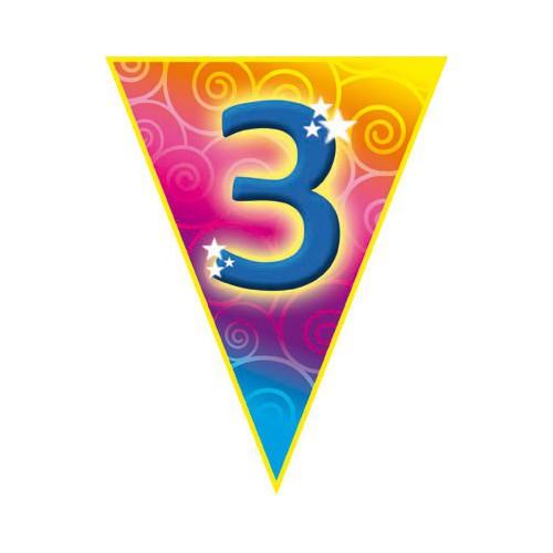 Guirlande fanions 3 ans