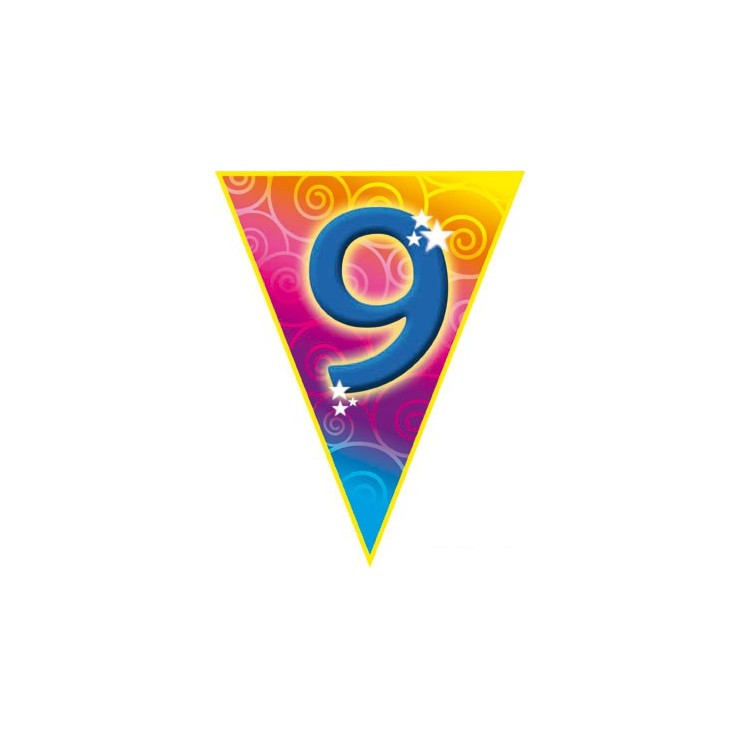 Guirlande fanions 9 ans