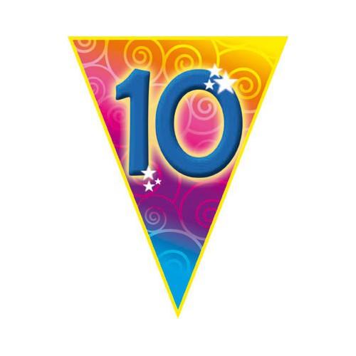 Guirlande fanions 10 ans