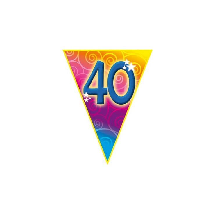 Guirlande fanions 40 ans