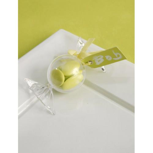 bonbon plastique transparent x4